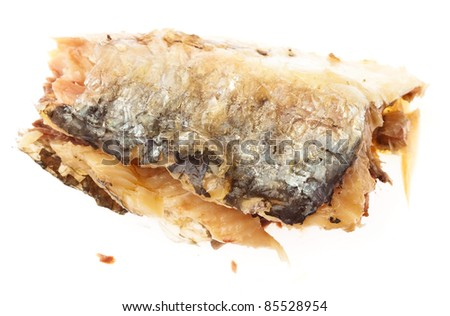 fresh sardine isolated on a white background