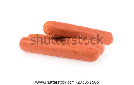 fresh sausages  isolated on a white background