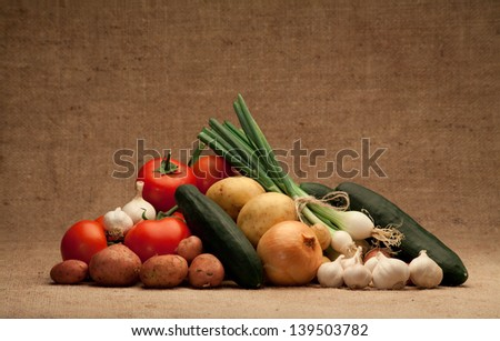fresh seasonal food - stock photo