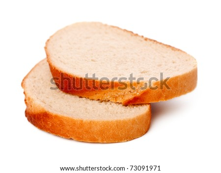 Fresh sliced bread isolated on a white background - stock photo