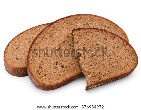 Fresh sliced rye bread loaf isolated on white background cutout - stock photo