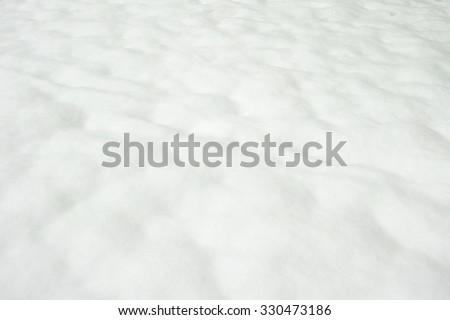 fresh snow, wavy smooth surface - stock photo