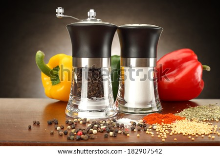 fresh spices in kitchen  - stock photo