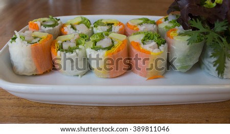 Fresh spring roll, Vietnamese food