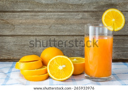 Fresh squeezed orange juice. - stock photo