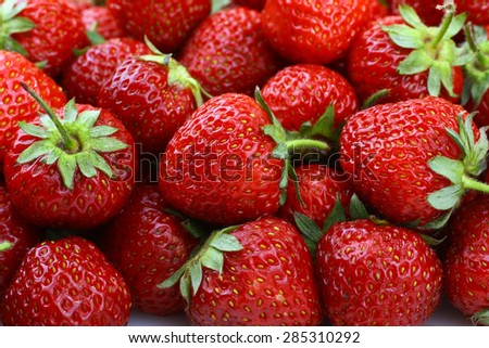 Fresh strawberries background