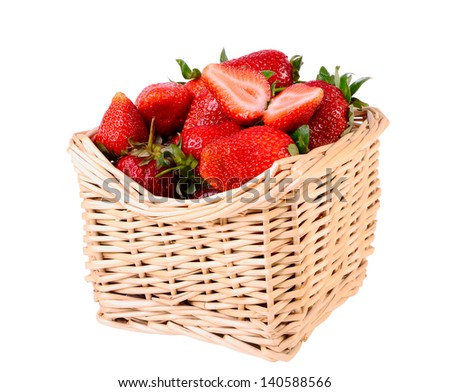 Fresh strawberries isolated on white closeup