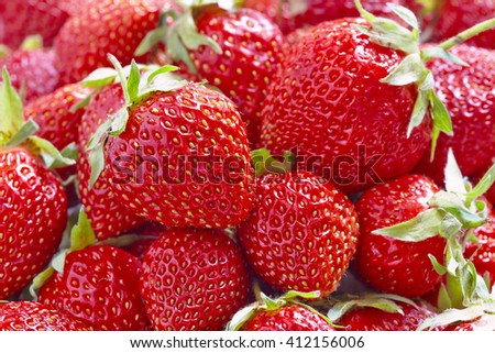 Fresh Strawberry berry close up full frame