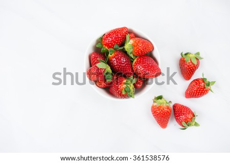fresh Strawberry in a bowl - stock photo