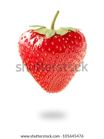 Fresh Strawberry Isolated on White Background - stock photo