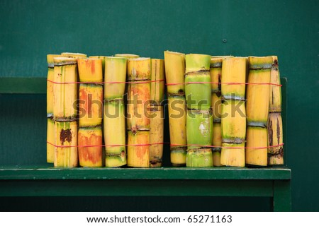 FRESH SUGARCANE CUT FOR EXTRACTION OF JUICE SMALL PACK FOR SALE IN ECUADOR