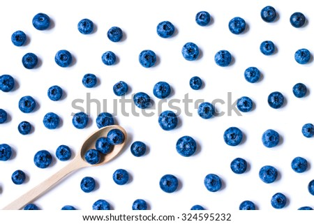 Fresh sweet blueberry fruit. Dessert healthy food. Group of ripe blue juicy organic berries. Raw summer diet. Delicious nature vegetarian ingredient. White background. - stock photo