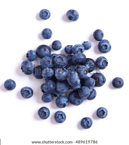 fresh sweet blueberry isolated on white background