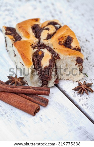 Fresh Sweet Homemade Cinnamon bun - stock photo