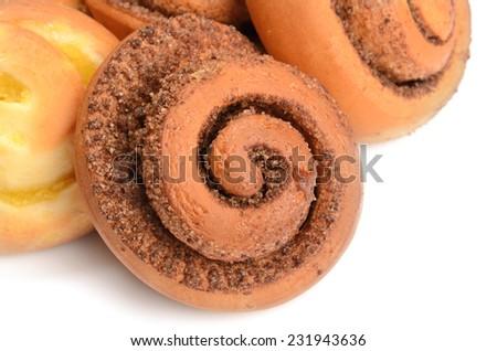Fresh Sweet Homemade Cinnamon Rolls - stock photo