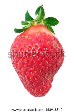 Fresh sweet strawberry isolated on white background - stock photo