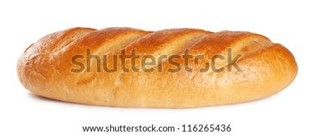 Fresh sweet white bread isolated on a white background - stock photo