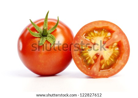 Fresh Tomato isolated on white background - stock photo