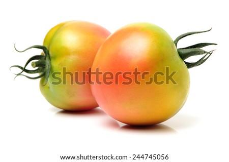 fresh tomato isolated on white background  - stock photo