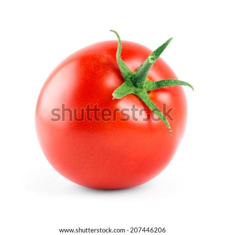 Fresh tomato on white background  - stock photo