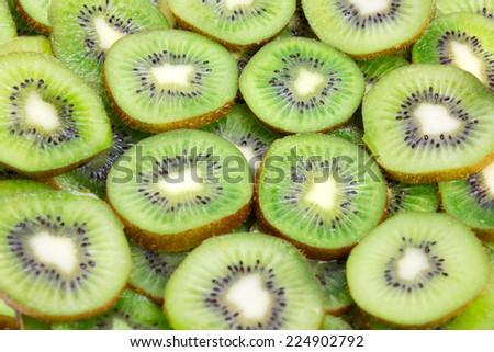 fresh tropical fruit kiwi as element meal - stock photo