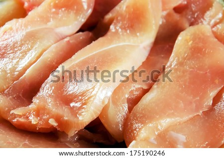 Fresh uncooked chicken meat background. - stock photo