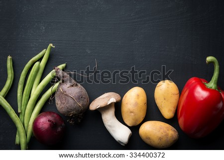 Fresh vegetable food background - stock photo