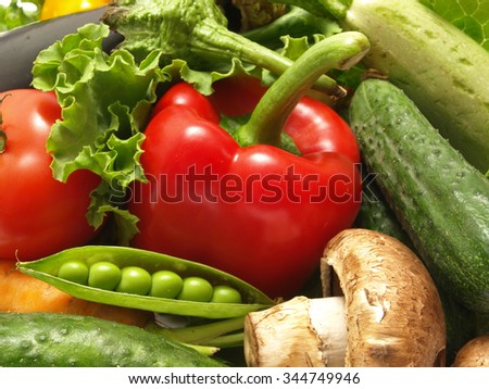 Fresh vegetable isolated - stock photo
