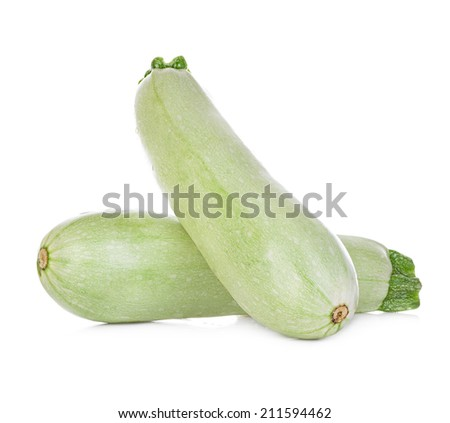 Fresh vegetable marrow isolated on white background. - stock photo