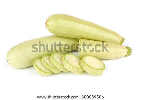 Fresh vegetable marrow isolated on white background - stock photo