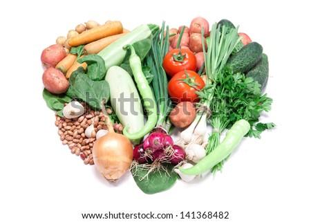 fresh vegetable mix - stock photo