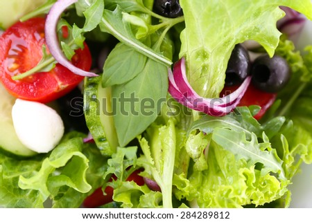 Fresh vegetable salad close up - stock photo