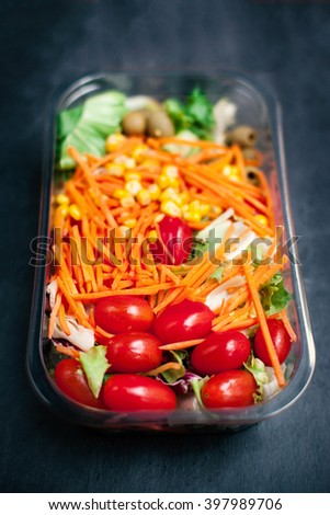 Fresh vegetable salad -  healthy food  - stock photo