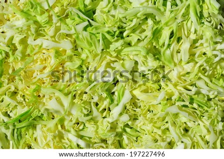 Fresh vegetable salad with cabbage - stock photo