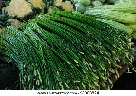 fresh Vegetables at market - stock photo