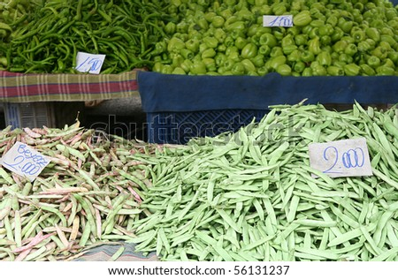 fresh vegetables at the market in Turkey - stock photo