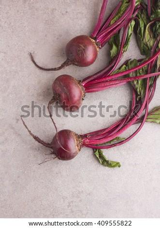 Fresh vegetables. garden beet. - stock photo