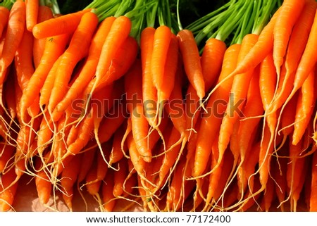 Fresh vegetables on  Salamanca Market , Tasmania, Australia. - stock photo