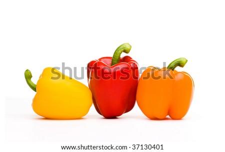 Fresh Vegetables on White - stock photo