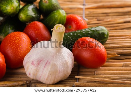 Fresh vegetables. Still vegetables. Green vegetables. Healthy food - stock photo