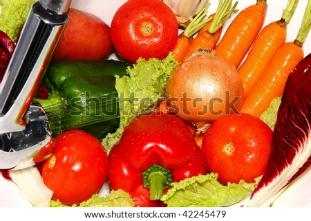 fresh vegetables to eat lots of vitamins