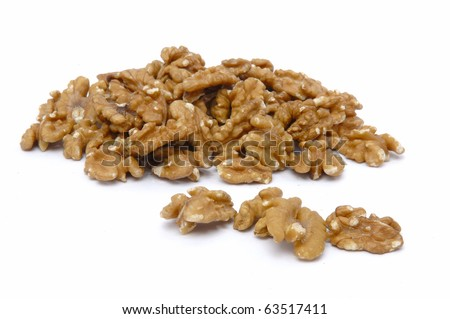 fresh walnuts isolated at the white background