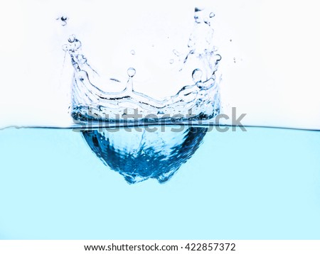fresh water and bubbles - splash - stock photo