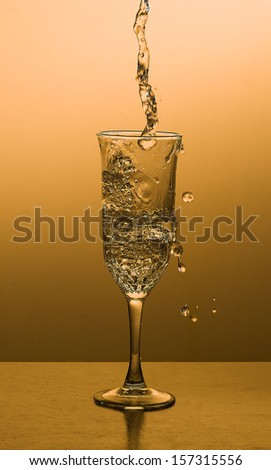 Fresh water being poured into glass