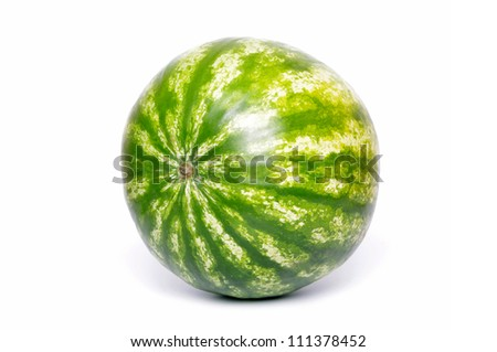 Fresh water melon on white background