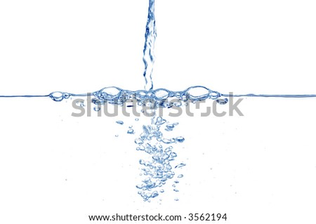 Fresh water running. - stock photo