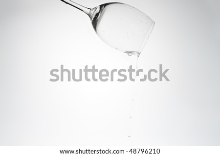 fresh water spilling from glass