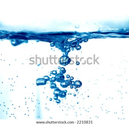Fresh water splash background - stock photo