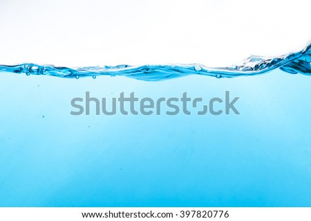Fresh water splash on white background - stock photo