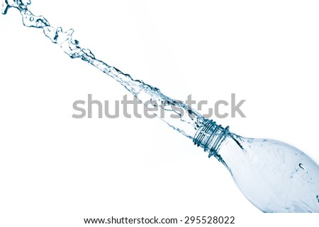 Fresh water splashing Isolated on white background